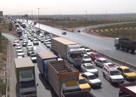 انسداد موقت آزاد راه کرج قزوین