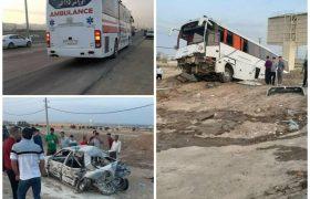 برخورد اتوبوس با سواری در اتوبان کرج – قزوین ۲۵ کشته و مجروح داد