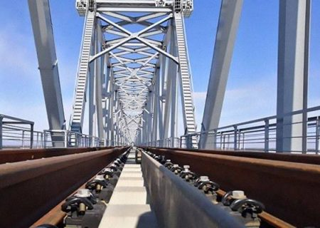 تکمیل احداث پل ریلی آمور