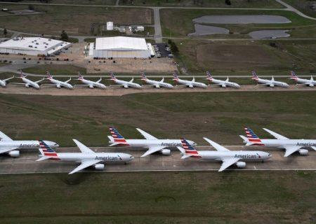 هواپیماهای زمینگیر شده بر اثر کرونا