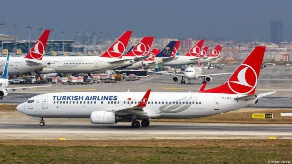پروازهای هفتگی شرکت هواپیمایی ترکیش بین تبریز و استانبول از سر گرفته شد